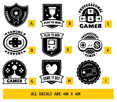4in X 4in Gaming Vinyl Decal Sticker Sold By Decal Squad On Storenvy