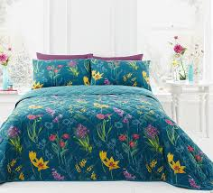 Dreams & Drapes - Ingrid - Easy Care Bedspread - 195 x 229cm, Teal:  Amazon.co.uk: Kitchen & Home