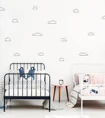 Black And White Cloud Wall Decals For Monochromatic Kids Rooms Made Of Sund Made Of Sundays