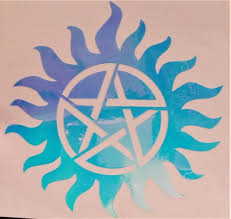 Supernatural Inspired Anti Possession Symbol Car Window Decal Etsy Car Window Decals Holographic Car Window Decals