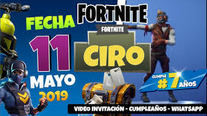 Fortnite Invitacion Digital Animada Cumpleanos Youtube