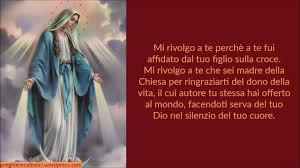 Preghiera alla Madonna Miracolosa per chiedere una grazia - YouTube