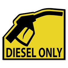Diesel Only Vinyl Sticker Decal Fuel Type Reminder Gas Cap Cover Marker Yellow Ebay