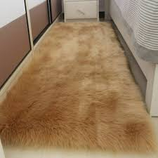 faux sheepskin rug soft faux fur gy