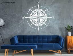 Mandala Compass Wall Decal Nautical Decor Compass Wall Art Travel Vinyl Sticker For Living Room Self Adhesive Wallpaper Z255 Wall Stickers Aliexpress
