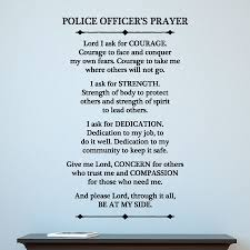 Police Officer Prayer Wall Quotes Decal Wallquotes Com