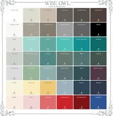 colors wise owl chalk synthesis paint