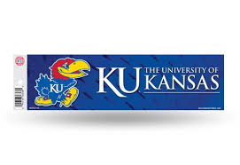 Kansas Ku Jayhawks Wildcats Bumper Sticker Officially Licensed Custom Sticker Shop