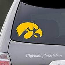 Amazon Com Celycasy Hawkeyes Decal Iowa Hawkeyes Decal Hawkeyes Car Decal Hawkeyes Laptop Decal Hawkeyes Sticker Iowa Hawkeyes Sticker Baby
