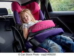 baby girl sleeping in a car seat 3