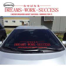 Hotmeini 60cm 14cm Endless Nights Japanese Kanji Stance Windshield Jdm For Bmw Mugen Car Decal Sticker Big Car Sticker Car Stickers Aliexpress