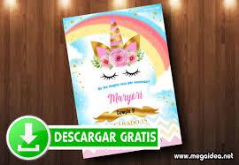 Unicornio Invitaciones Gratis Para Imprimir Mega Idea