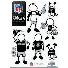 Siskiyou Nfl Family Decals Auto Car Stickers Choose Your Team Walmart Com Walmart Com
