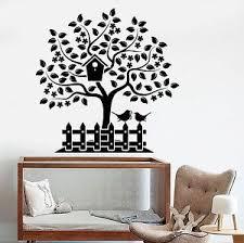 Vinyl Wall Decal Tree House Bird Garden Home Design Nursery Stickers 795ig Ebay
