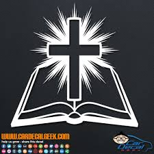 Amazing Bible Cross Light Religious Vinyl Decal Sticker