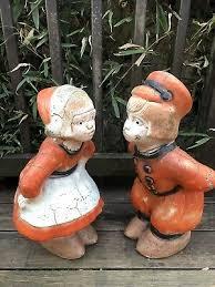 dutch boy girl statue yard garden