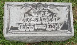 Adele Becker Wahl (1866-1934) - Find A Grave Memorial