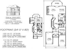 narrow monte smith designs house plans