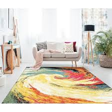 mystic multi colored modern area rug