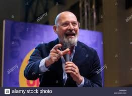Bologna, ITALY. November 16, 2019. Stefano Bonaccini, candidate of ...