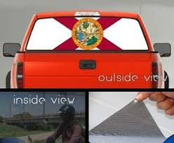 Flag Of Florida Rear Window Graphic Perforated Mesh Vinyl Decal Sticker Ebay