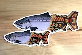 Out Of The Myths Chinook King Salmon Vinyl Decal Sticker Etsy