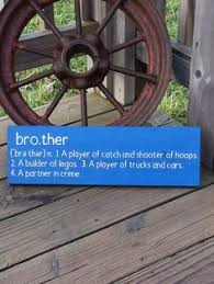 Brother Sign Wooden Signs Nursery Wall Decor Baby Gift Kids Room Wall Art Gift For Brother Definition Wall Plaque Home Decor Handmade Products Handmade Products Home Kitchen