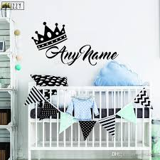 Wall Decal Creative Crown Princess Prince Personalized Name Wall Sticker Baby Nursery Kids Room Decoration Art Decor Wall Stickers For Kids Rooms Wall Stickers For Nursery From Joystickers 7 88 Dhgate Com