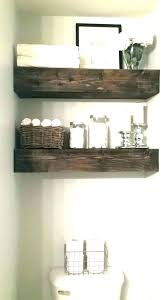 wall storage for small bathroom