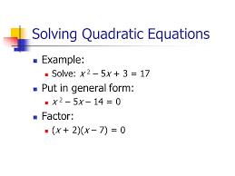 solving quadratic equations quadratic