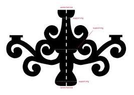 cardboard chandelier template the