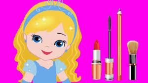 makeup princess cinderella animation