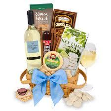 wine basket white by gourmetgiftbaskets