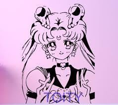 Sailor Moon Wall Sticker Japan Cartoon Anime Vinyl Decal Room Decor Art Mural H78cm X W57cm Affiliate Vinyl Decals Wall Sticker Mural