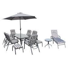 crofton 6 seater metal garden furniture
