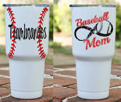 Baseball Mom Powder Coated Tumbler Baseball Infinity Powder Coated Tumblers Tumbler Decals Vinyls Baseball Mom