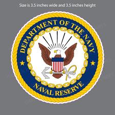 Us Navy Naval Reserve Seal Bumper Sticker Vinyl Window Decal