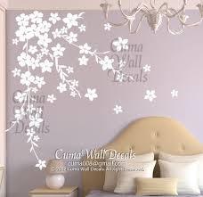 White Cherry Blossom Wall Decals Flower Cuma Wall Decals