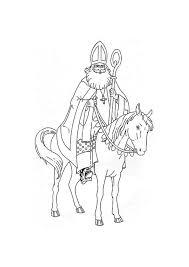 Kleurplaat De Sint Op Zijn Paard Gratis Kleurplaten Om Te Printen
