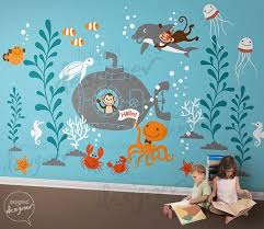 Scuba Diving Wall Sticker Under The Sea Wall Decal Kids Bedroom Home Decor