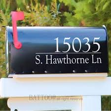 Amazon Com Battoo Set Of 2 Mailbox Address Number Stickers Easy To Apply Mailbox Decals Address Sign Front Door Decor New Home Gift Mail Vinyl Decal 10 W X 4 H Furniture