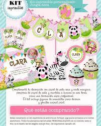 Kit Imprimible Jungla Selva Candy Invitaciones Primer Ano 31
