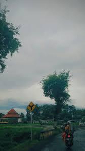 sore senja mendung pengendara gunung kabut could fog hiburan penari