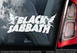 Black Sabbath Car Window Sticker Ozzy Osborne Rock Metal Decal Sign V02 Ebay
