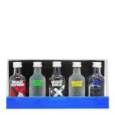 absolut vodka 5x 5cl miniature gift