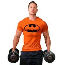 men s batman fitness exercise t shirt