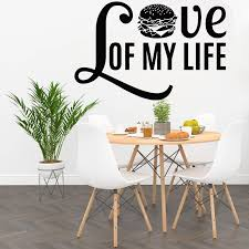 Fast Food Wall Decal Dining Room Art Decoration Phrase Love Burger Cafe Restaurant Shop Window Waterproof Wall Stickers Z620 Wall Stickers Aliexpress