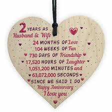2nd wedding anniversary gift wooden