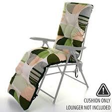 outdoor garden sun lounger cushion
