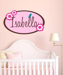 Decordesigns Pink Isabella Flower Personalized Wall Decal Set Best Price And Reviews Zulily